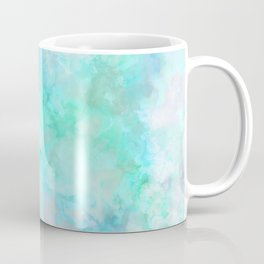 Irridescent Aqua Marble Coffee Mug