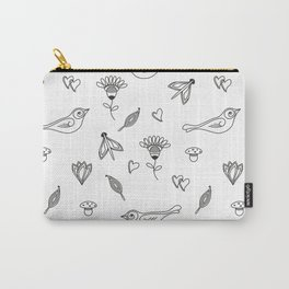 Hand drawn nature lines pattern Carry-All Pouch