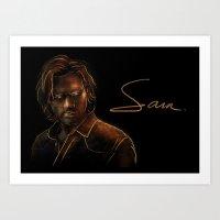 sam winchester Art Prints featuring Sam Winchester by Sarah Sangelus