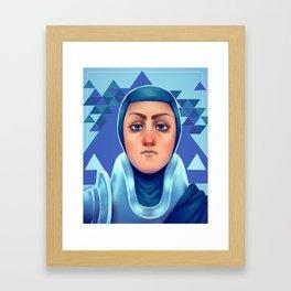 Police Princess Framed Art Print