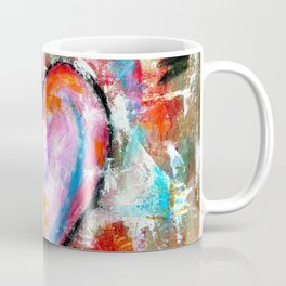 Reckless Heart, Abstract Art Painting Coffee Mug