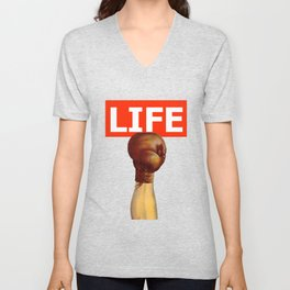 kick life back Unisex V-Neck