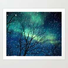 Aurora Borealis Northern Lights Art Print