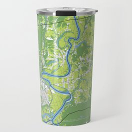 Pioneer Valley map Travel Mug