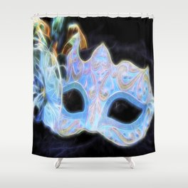 Glowing Mask Of Intrigue Shower Curtain
