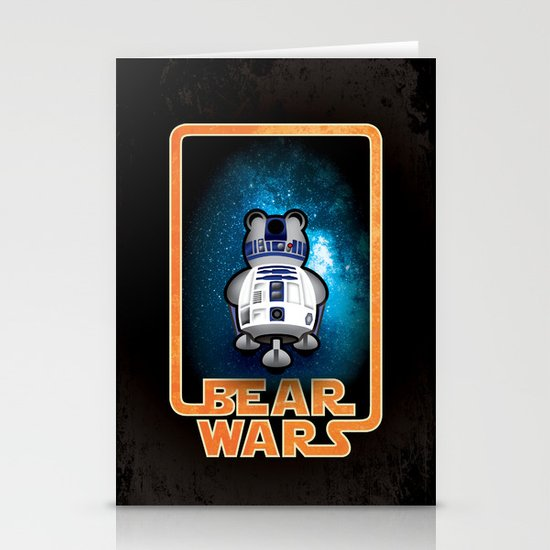 Bear Wars - GRRR2D2 Stationery Cards