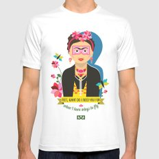 Frida  MEDIUM Mens Fitted Tee White
