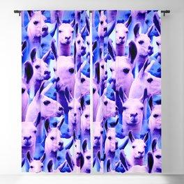 Llama Alpaca pink purple cute funny pop culture animal Blackout Curtain