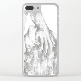 pixel-ed frustration Clear iPhone Case