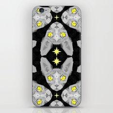 Sphynx Cat Black Pattern iPhone & iPod Skin