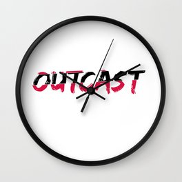 Outcast Typo Wall Clock
