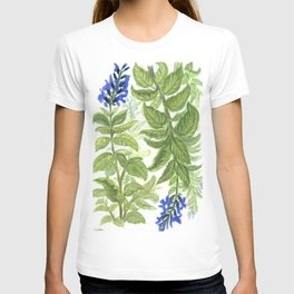 Blue Wildflower Watercolor T-shirt