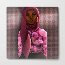 Hijab Muslim Modest Black Girl Metal Print