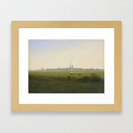 Meadows near Greifswald (1820-22) Kunsthalle, Hamburg by Caspar David Friedrich 1774-1840 Framed Art Print