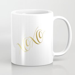 XOXO Gold Foil Print - Love Quote Print - Positive Quote - Lettered Print - Positive Coffee Mug