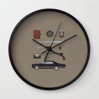 supernatural Wall Clocks featuring Supernatural v2 by avoid peril
