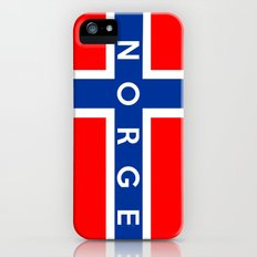 norway country flag norge name text iPhone SE Slim Case
