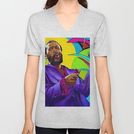 African American Portrait 'The Prince of Soul' Unisex V-Neck