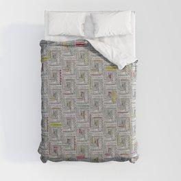 Log Cabin Pattern Duvet Cover