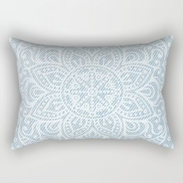 Mandala on Light Blue Jeans Rectangular Pillow