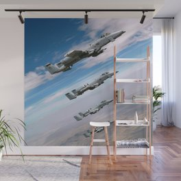 BEAUTIFUL AIRPLANE FORMATION Wall Mural