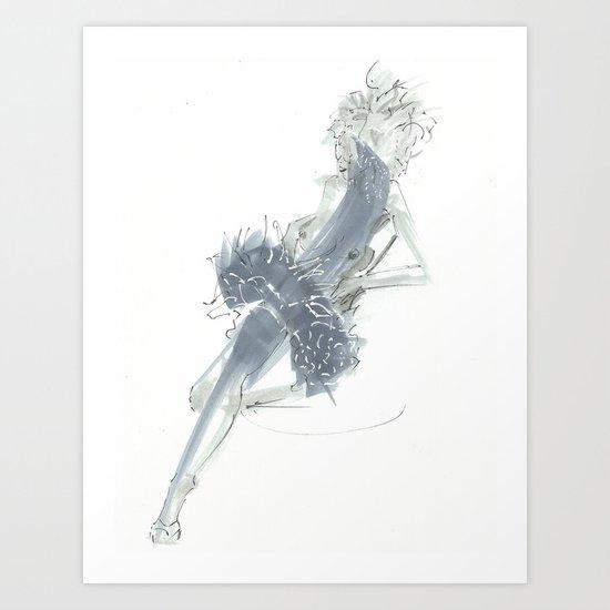 Relax in Grey  Art Print