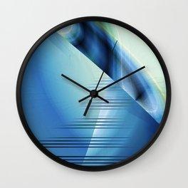 Blue abstract 2016 Wall Clock