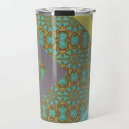 Patterned Retro Chevron Travel Mug