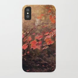 Autumn Leaves of Red iPhone Case