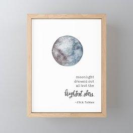 Moonlight with Tolkien Framed Mini Art Print