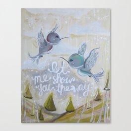 heavenly hummingbirds Canvas Print