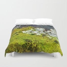 Tree Bark with Lichen#8 Duvet Cover