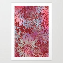 blanket of leaves in autumn Art Print