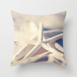 White Starfish Throw Pillow