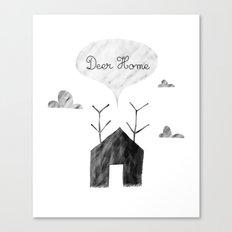 Deer Home Canvas Print