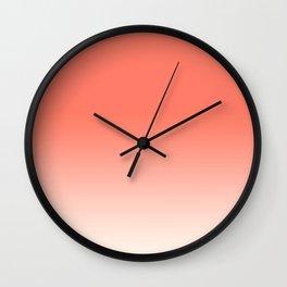 Coral to Peach Wall Clock