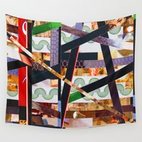 ruben Wall Tapestries featuring Ruben (stripes 19) by Wayne Edson Bryan