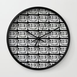 JUICEEXPRESSIONS THE LOGO Wall Clock