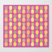 pineapples Canvas Prints featuring Pineapples by Ornaart