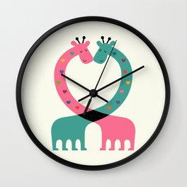 Love With Heart Wall Clock