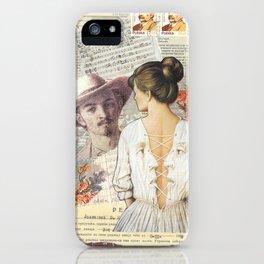 Collage Art, Mail Art, Vintage Art, Retro, Woman's Back iPhone Case