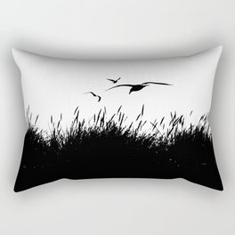 Seagulls Flying over Sand Dunes Rectangular Pillow