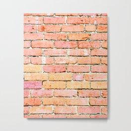 Red Brick Wall Metal Print