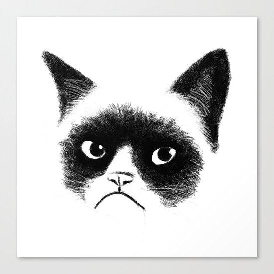 Grumpy Cat Canvas Print
