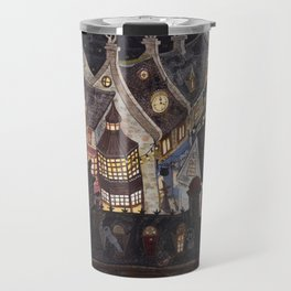 Roofs of magic town Travel Mug