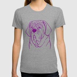 Neapolitan Mastiff (Lilac and Purple) T-shirt