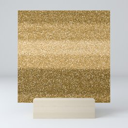 Glitter Glittery Copper Bronze Gold Mini Art Print