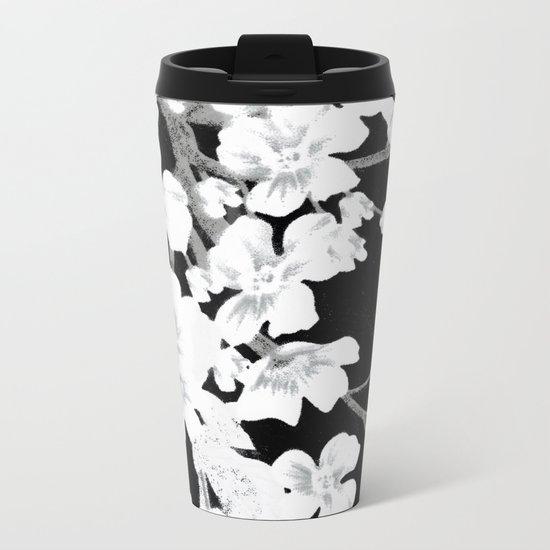 Apple Blossoms Metal Travel Mug