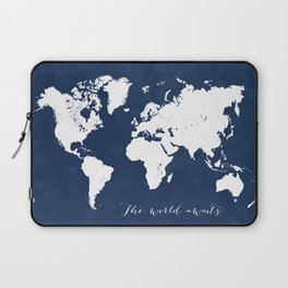 The world awaits world map Laptop Sleeve