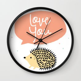Hedgegog love Wall Clock